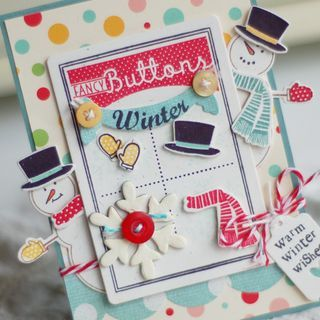 Fun card for the winter - a lot of work, but so cute.