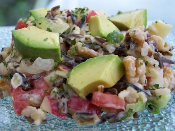Wild and Crazee Rice Salad A combination of wild and brown rice and ...