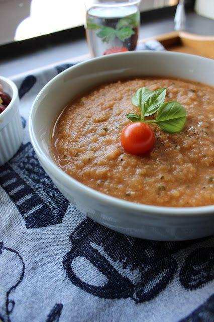 tomato zucchini gazpacho soup - yum! | yummy things | Pinterest