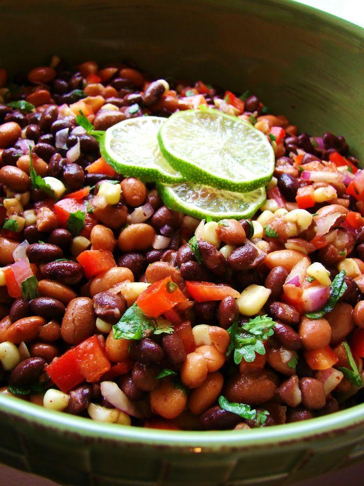 Mexican bean salad. | Mexican Recipes | Pinterest