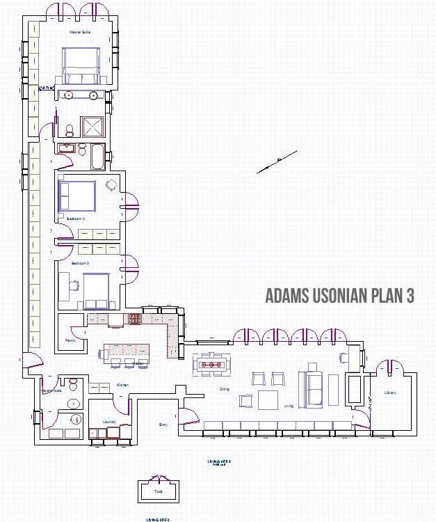 Adams Usonian Type Floor Plan3 For Students