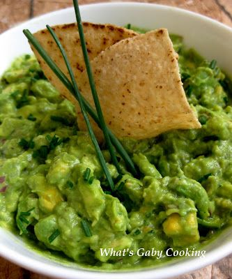 The Best Guacamole in the whole wide world. Eat it with some chips ...