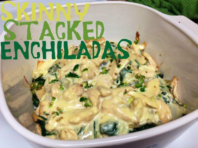 ... | cheesy chicken & spinach enchiladas!!! SO GOOD