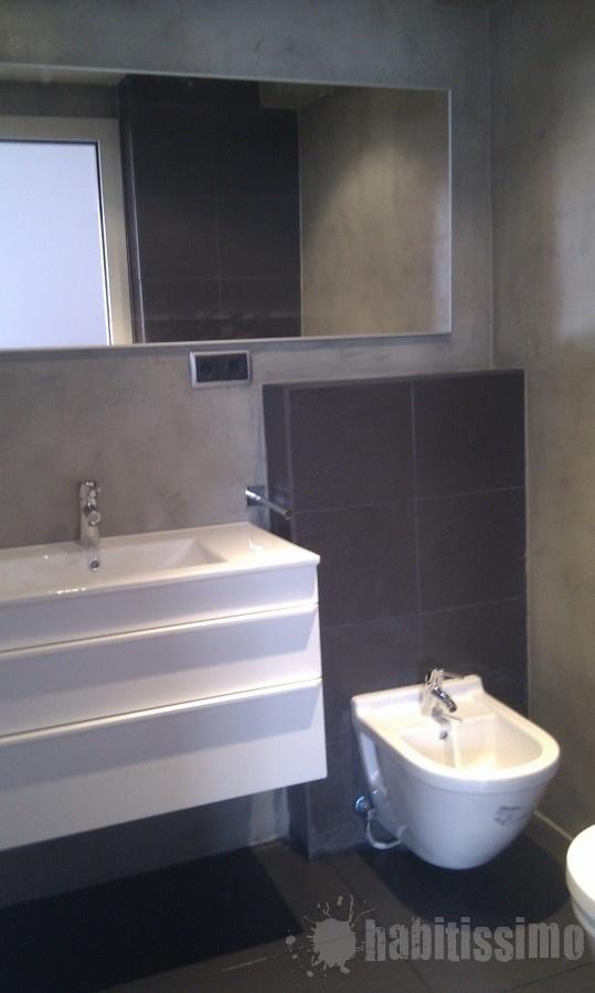 Baños Microcemento Gris:Baño en microcemento gris