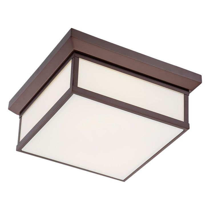 metropolitan square flush mount ceiling light available in 2 colors