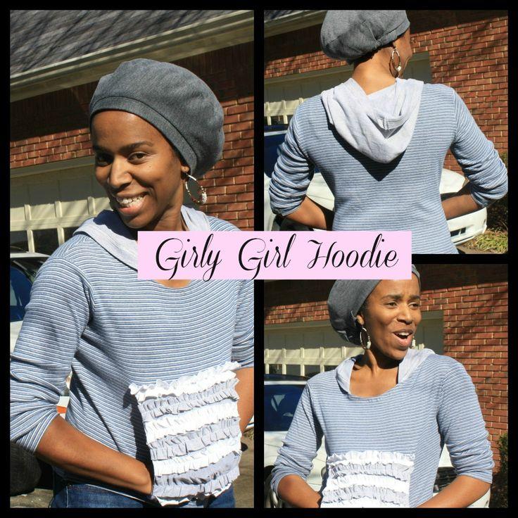 Girlie Girl Hoodie Collage