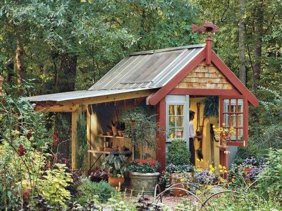Tin roof garden shed garden stuff pinterest for Tin shed house design