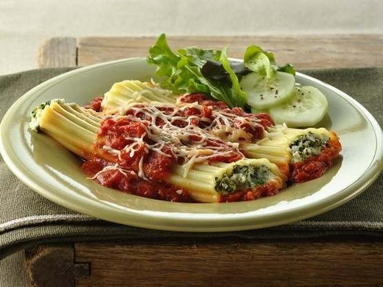 Spinach manicotti - making this 4/22/12 | MMMM Main Dish Recipes | Pi ...