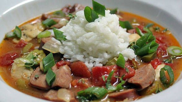 One Great Gumbo with Chicken and Andouille Sausage-- add shrimp; add ...