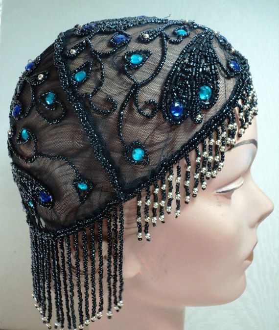Great gatsby gatsby inspired beadwork sequined flapper hat cloche