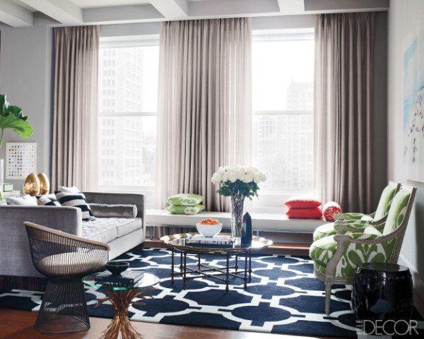 Grey Navy Living Room Modern Living Room Pinterest