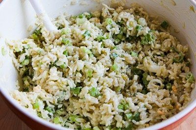 ... for Spicy Slow Cooker Rice with Green Chiles, Green Onions, and Cheese