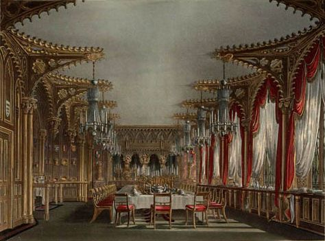 gothic dining room carlton house regency london pinterest