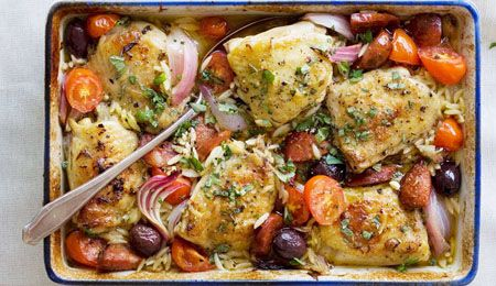 Mediterranean-style Chicken Bake | Delicioso! :) | Pinterest