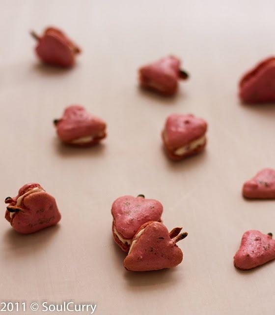 Strawberry Macarons | ބ great IDEA for FOOD ބ | Pinterest