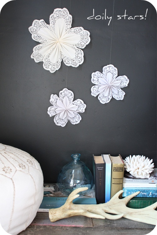 Christmas Craft Ideas With Paper Doilies : Diy project paper doily stars doilies
