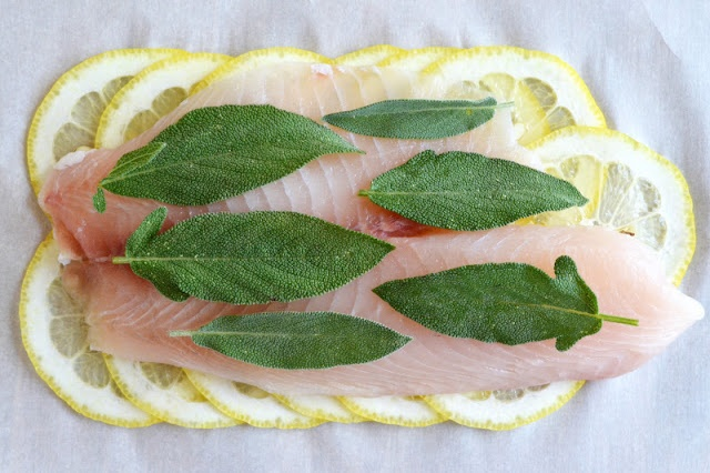 ... view from Great Island: Roberta's Lemon Herb Fish (in parchment paper