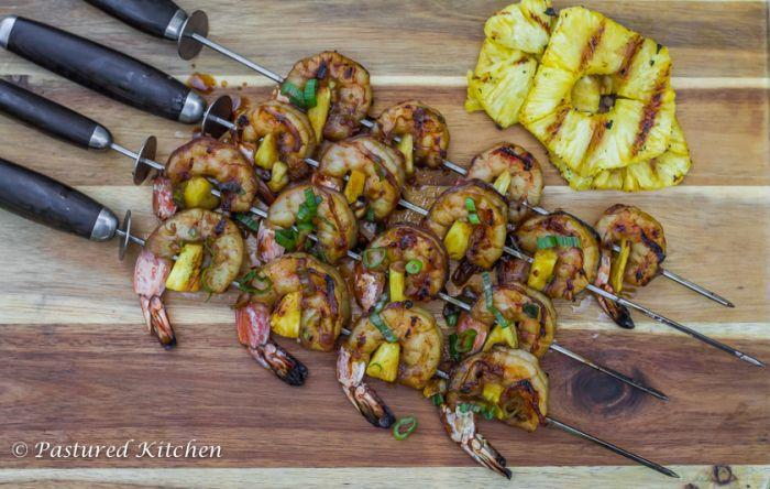 Teriyaki Pineapple Shrimp Skewers are going down this weekend!