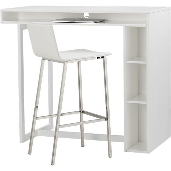 High Dining Table In Dining Tables CB2 Small Dining Space Or Desk