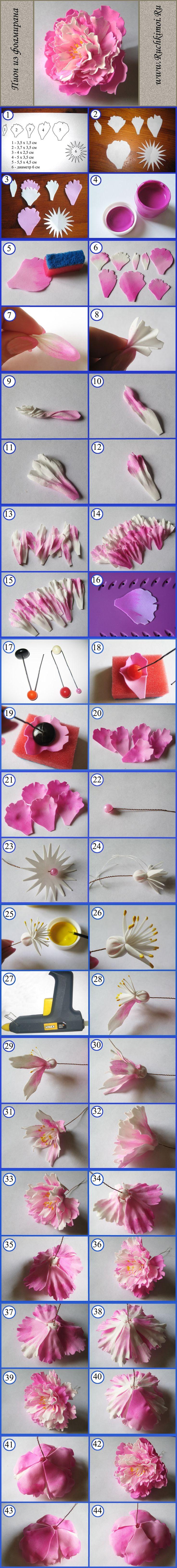 Цветы из фоамирана своими руками: мастер-класс для 34