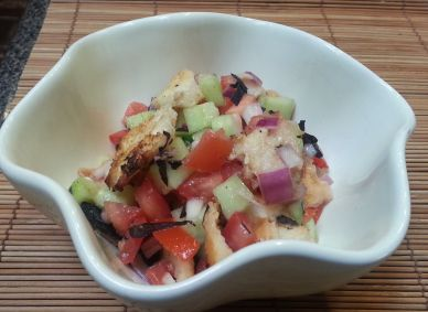 Grilled Panzanella Salad - A fresh and simple salad with tomatoes ...