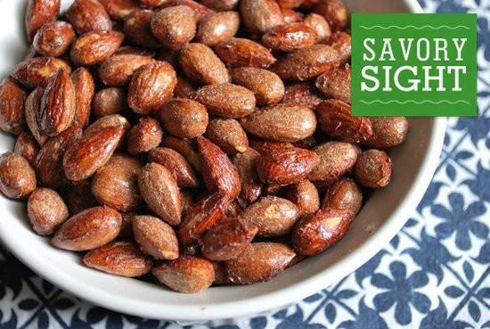roasted maple cinnamon almonds | House of YUM | Pinterest