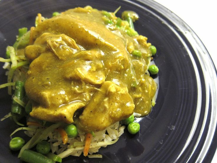 Crock pot coconut curry chicken recipe. I didn't have any coconut milk ...
