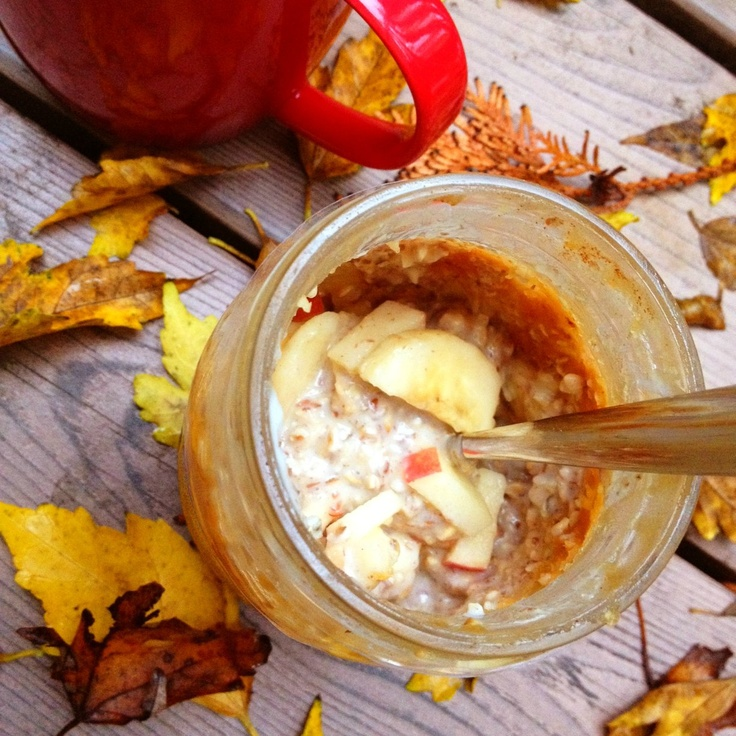 Apple Peanut Butter Overnight Oats - eat warm or cold, great way to ...