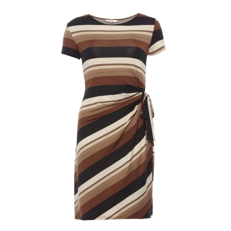 Ladies Brown Stripe Dress for £19.99 #fabfind - This is a gorgeous dress and a lovely fit