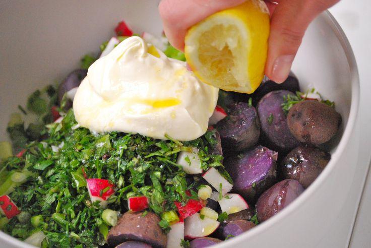 ... purple rific layer cake chicken en escabeche with purple mashed potato