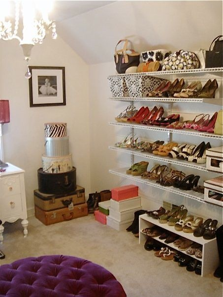 Turning A Spare Bedroom Into A Dressing Room Walk In Closet Storage Cubes Used To Display