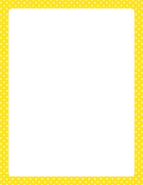 Similiar yellow polka dot page border keywords printable yellow polka dot border free gif jpg pdf and voltagebd Images