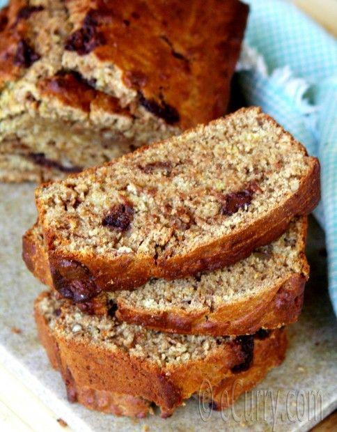 Eggless Choco-Nut Banana Bread | eCurry - The Recipe Blog