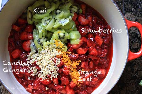 Strawberry kiwi jam. Just made this today with fruit from our co-op ...