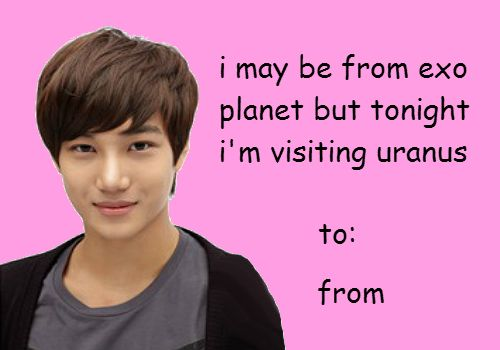 exo valentine's day cards