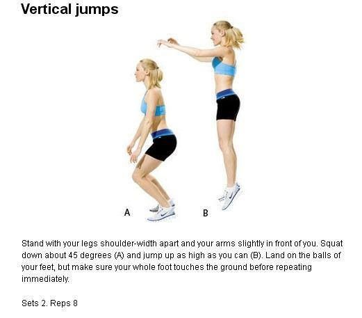 Vertical jump exercise plan 1950