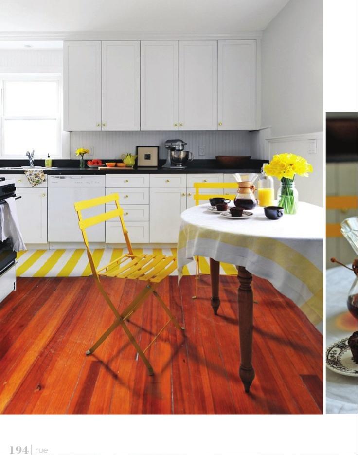 white yellow and wood kitschy kitchens pinterest