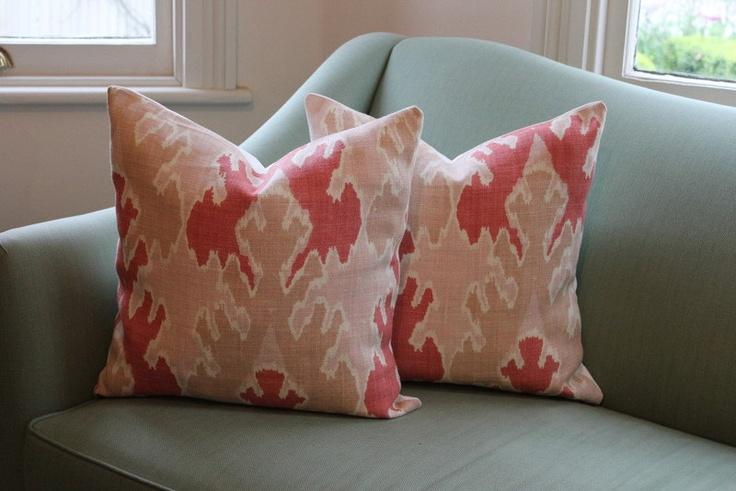 "20"" Pair of Kelly Wearstler Bengal Bazaar Apricot Pillow Covers. $110.00, via Etsy."