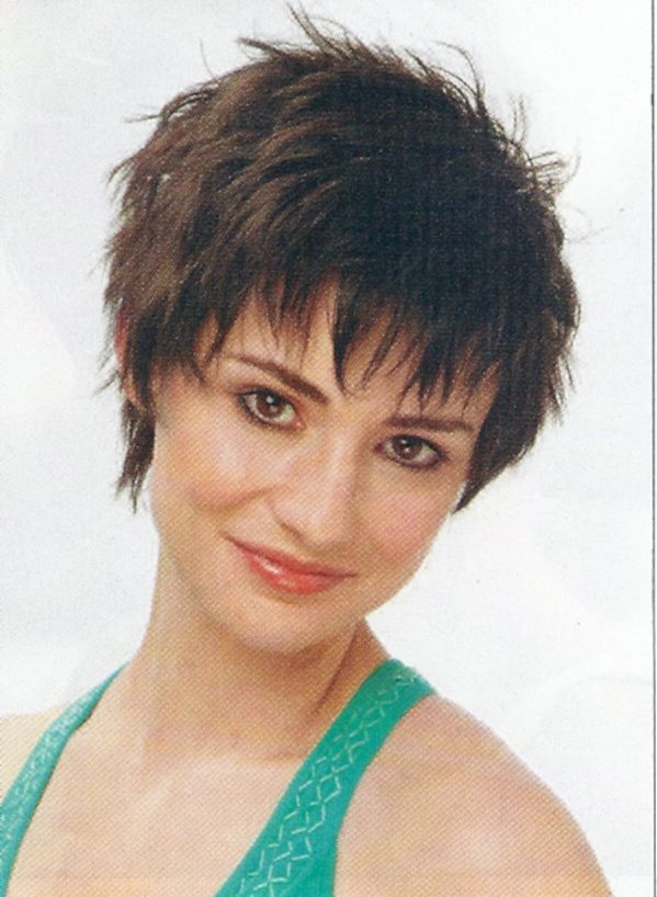 cute short wispy pixie haircut eyes nails and toes oh