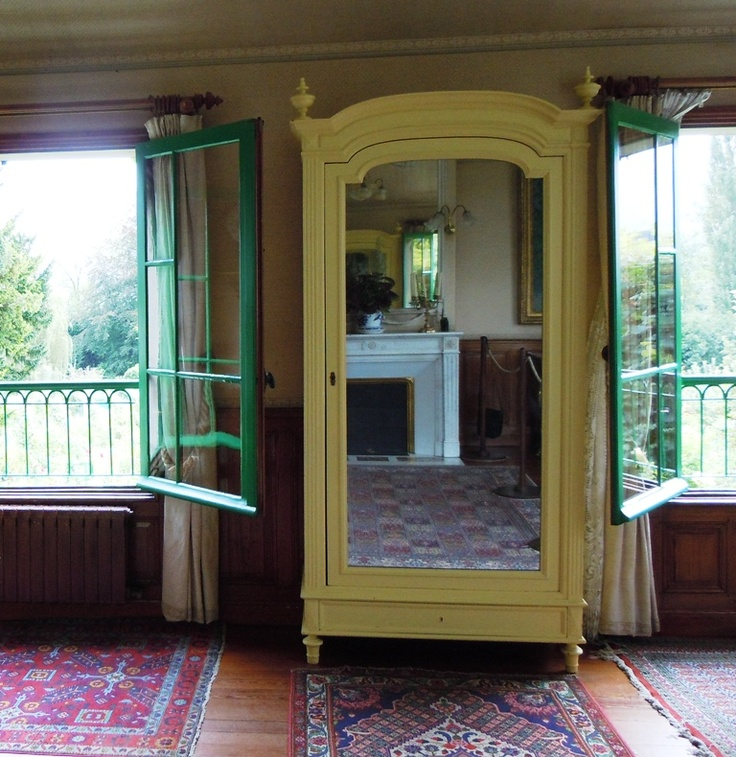 Monet's Home in Giverny, France: Second Floor / Master Bedroom