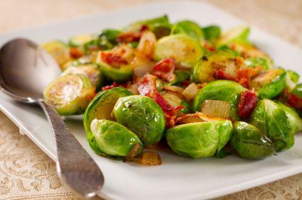 Bacon Vinaigrette Brussel Sprouts & Butternut Squash