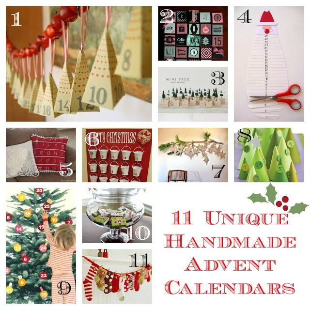 Unique Advent Calendar Ideas : Unique handmade advent calendars