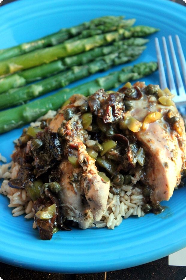 Braised Chicken with Dried Plums, Olives, and Capers - fANNEtastic ...