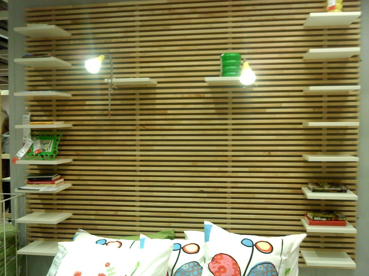 Ikea Glasvitrine Mit Beleuchtung ~ Ikea Mandal headboards (3 stacked) surround foldout loveseat in d's