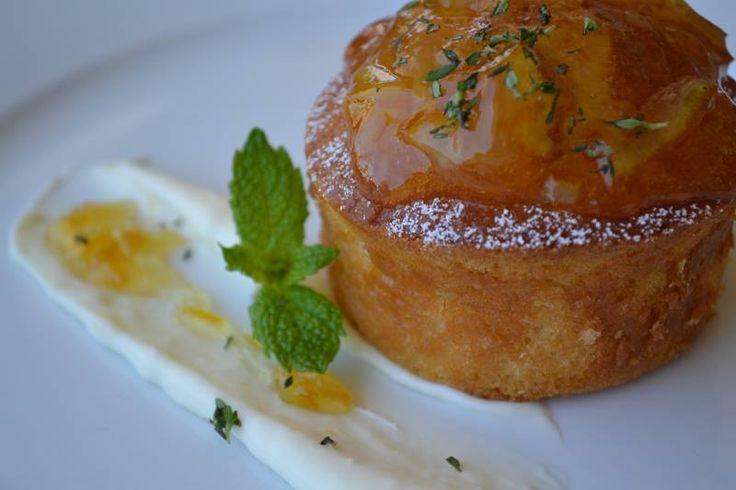 Lemon Cream Cheese Cake, Orange Marmalade — at Firenze Osteria.