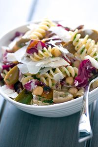 ... of grilled peppers and chickpeas for the ultimate pasta salad