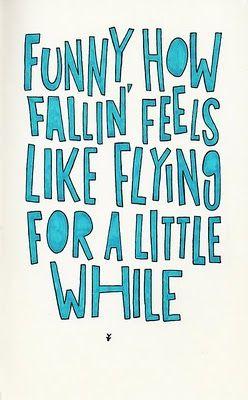 when flying feels like falling lyrics: