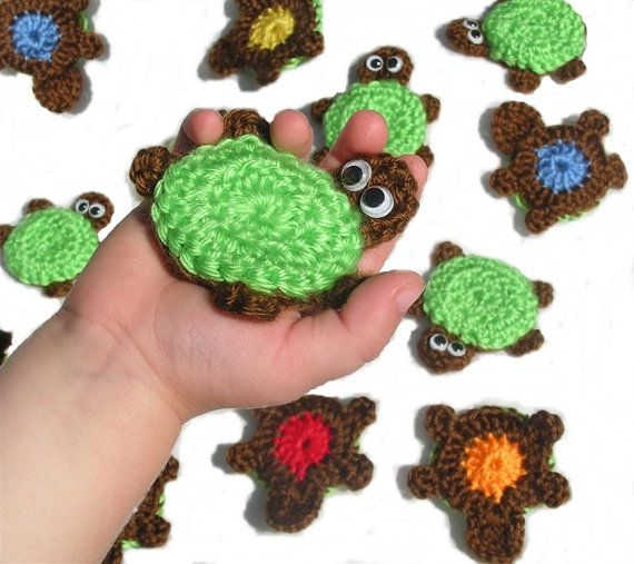 Crocheting Games : Crocheted Turtle Memory Game... oh that I were so crochetingly ...