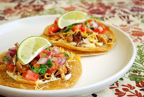 Chicken Tostadas made with Cook's Illustrated spice rub and chicken ...