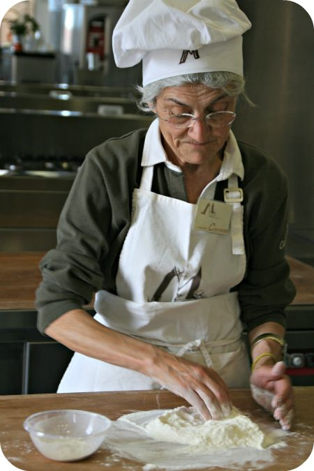 Casa Artusi near Bologna, Italy. Learn to make pasta from the best, the volunteering grand-mothers.